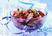 Herring salad with beetroot