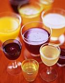 Various fruit liqueurs
