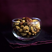 Nuts with oil and herbs