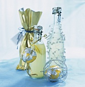 Lemon vodka in gift bottles