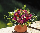 Summery bouquet of zinnias