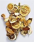 Fruity pot-pourri with slices of orange and orange peel