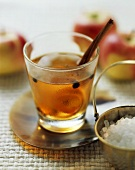 Apple punch with coffee beans and cinnamon
