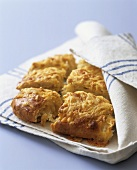 Cheese and onion scone in a tea towel (Aga Cooking)