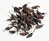 Chili peppers, variety 'Chile mora roja', dried