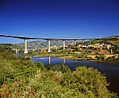 Neue Brücke über den Douro Fluss bei Peso da Régua, Portugal