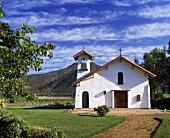 Kapelle am Grund der Weinberge Tarapaca, Santiago, Chile