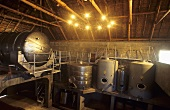 Stainless steel tanks at Glen Carlou Winery, Paarl, S. Africa