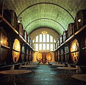 'Cathedral Cellar' at KWV headquarters, Paarl, S. Africa
