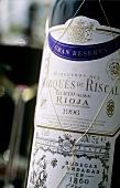 Bottle of 'Marqués de Riscal', 'Gran Reserva 1996', Rioja, Spain