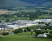 View of KWV headquarters, Paarl, S. Africa