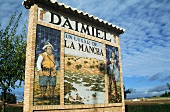 Daimiel town sign in La Mancha, Spain