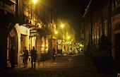 Colmar bei Nacht, Elsass, Frankreich