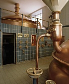A brew kettle in a brewery