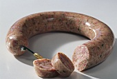 Brawn sausage, in a ring