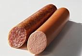 Braunschweiger Mettwurst sausage, coarse and fine