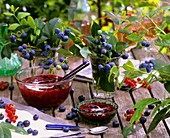 Blueberry and redcurrant compote