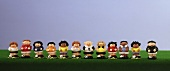 Line-up of sugarpaste footballers