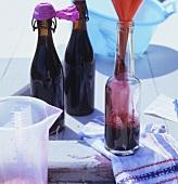 Bottling elderberry syrup