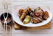 Pirzola izgara (lamb kebabs, Turkey)