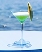 'Le Vert' (Gin with melon- and peach liqueur)
