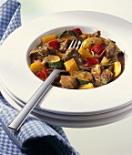 Lamb ragout with peppers and courgettes