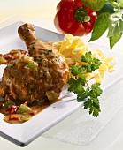 Paprika chicken with ribbon pasta (Hungary)