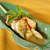 Swordfish fillet with lemon grass in curry sauce