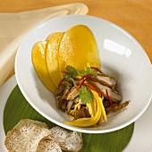 Yum ped mamuang (Duck and mango salad, Thailand)