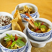 Various curry dishes