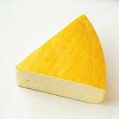 A piece of Moosbacher (semi-hard cheese, Austria)