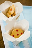Biscuits in gift boxes