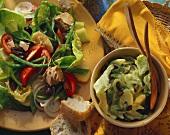 Salade Nicoise and celery & avocado salad