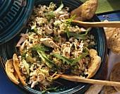 Arabischer Reis-Geflügel-Salat mit Minze & Korinthen