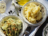 Mashed Potatoes; Mashed Broccoli and Potatoes