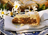 A piece of Engadin nut cake