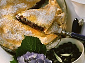 Juicy blueberry pie