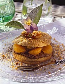 Nut burger with mandarins