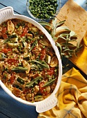 Veal and spelt casserole