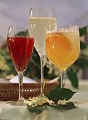 Austrian Kirissimo, Elderflower dream, Apricot fizz