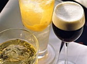 Russian drinks: Vodka gimlet, Moscow mule, White Russian