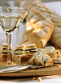 Pine nut bread with Gorgonzola,  Brie with truffle