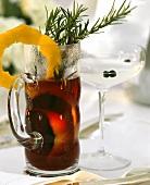 Winter drinks: mulled wine, juniper punch