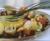 Fish platter with Schillerlocken, salmon & rollmops