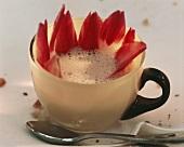 Artichoke soup in a mocha cup