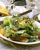 Batavia & rocket salad with oranges & sprouts