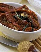 Pomodori secchi conditi (marinated dried tomatoes)
