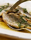 Sarde in olio (marinated sardines in olive oil & parsley)