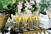 Elegant Buffet with Champagne