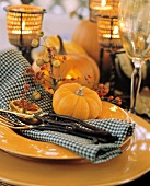 Single Place Setting for the Thanksgiving Table